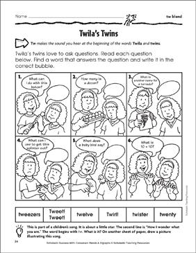Twilas twins tw blend printable skills sheets twilas twins tw blend ibookread ePUb