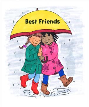 best friends printable mini books