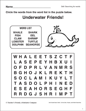 Wordsearch For Kindergarten Sight Words Search Sight Words