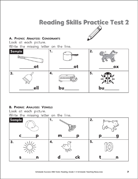 It is a graphic of Clever Free Printable Reading Assessment Test