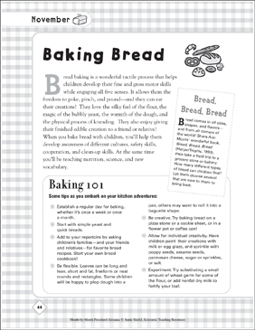 baking bread printable lesson plans ideas arts and crafts