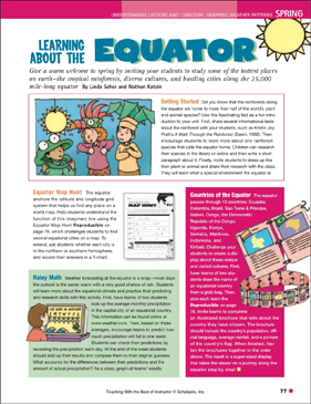 Equator Map Hunt | Printable Lesson Plans, Ideas and Skills Sheets