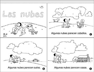 las nubes clouds printable mini books