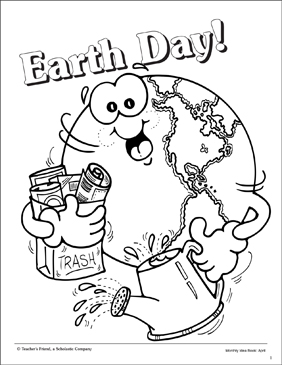 Earth Day Coloring Page Printable Coloring Pages