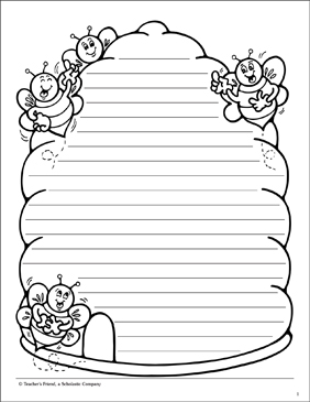 beehive lined stationery printable lined stationery