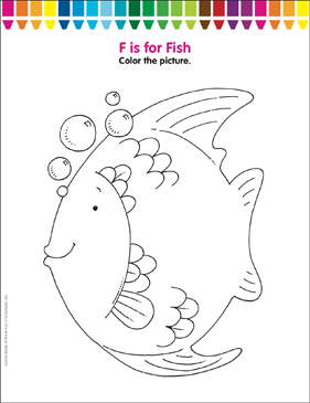 F Is For Fish Coloring Page Printable Coloring Pages - F-is-for-fish-coloring-page