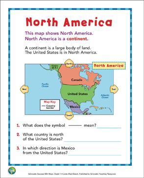 North America Map Skills Printable Maps And Skills Sheets