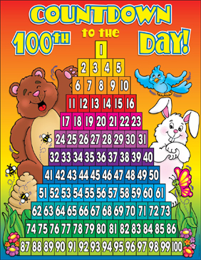 Countdown To The 100th Day Of School Chart Printable