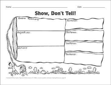 Show, Don't Tell! (ideas and word choice) Graphic Organizer & Mini ...