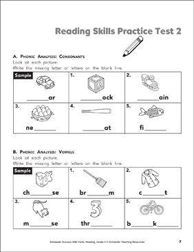Reading Skills Practice Test