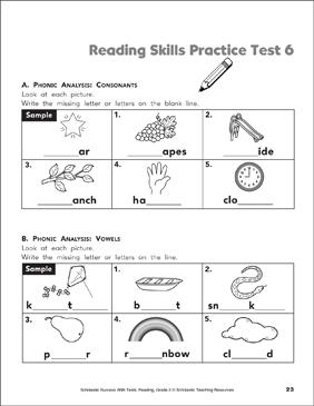 Reading Skills Practice Test 6 Grade 2 Printable Test