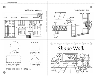 graphic about Shape Books Printable called Form Wander: Math Mini-E-book Printable Mini-Publications, Lesson