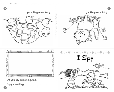picture about I Spy Printable Worksheets named I Spy Printable Mini-Guides, Lesson Applications and Strategies