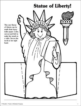 Nifty image with printable statue of liberty template