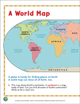 graphic relating to World Maps Printable referred to as A Worldwide Map: Map Expertise Printable Maps and Abilities Sheets