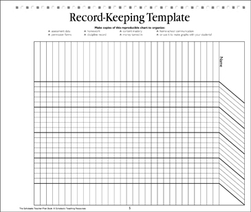 record keeping template teacher resource printable forms and