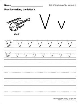 photo relating to Letter V Printable identified as Studying the Letter V: Uncomplicated Techniques (Alphabet) Printable