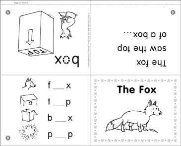 The Fox (Short Vowel o)   Printable Mini-Books