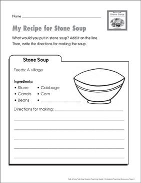 Stone Soup: Lesson Plan & Activities | Printable Lesson ...