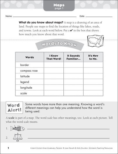 Maps social studies vocabulary printable skills sheets maps social studies vocabulary ibookread PDF