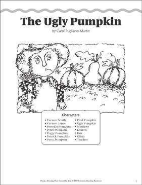 The Ugly Pumpkin Halloween A Fluency Building Read Aloud Play