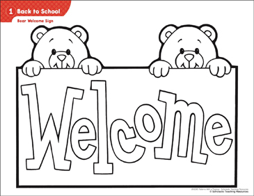 back to school bear welcome sign activities printable lesson