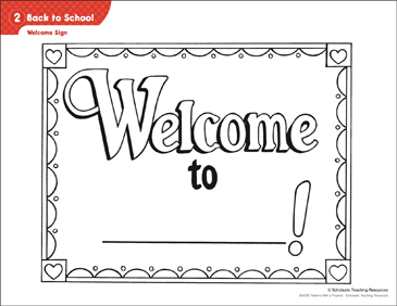 back to school welcome sign activities printable lesson plans