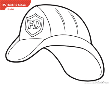 Fire Hat Pattern Activities Printable Lesson Plans And Ideas
