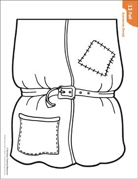 picture regarding Scarecrow Pattern Printable referred to as Scarecrow - Torso (Practice Things to do) Printable Lesson