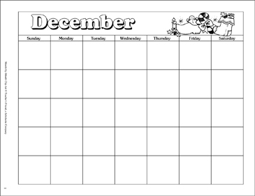 December Calendar And Clip Art Printable Calendars And Graphic