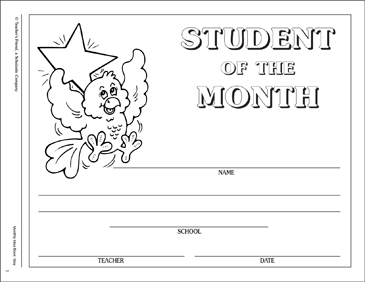may student of the month certificate printable awards incentives