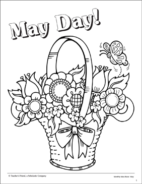 may day coloring pages May Day: Coloring Page | Printable Coloring Pages may day coloring pages