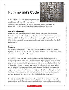 Work Ethics Essay Hammurabis Code Text  Organizer Pre Written Essays For Sale also Favorite Food Essay Hammurabis Code Text  Organizer  Printable Graphic Organizers  Essay On Importance Of Education In Life