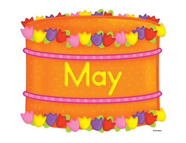 May Birthday Cake Printable Clip Art and Images