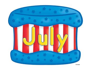 July Birthday Cake Clip Art