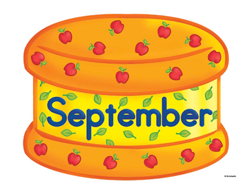 September Birthday Cake Printable Clip Art and Images