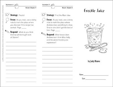Freckle Juice Reading Comprehension Packet | EdBoost