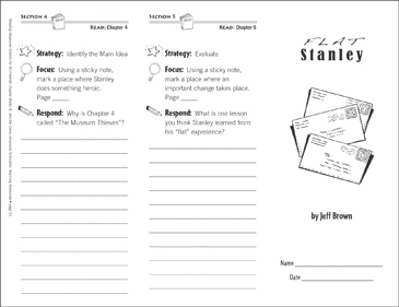 Flat Stanley Level N Reading Response Trifold