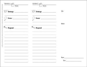 make your own trifold template reading response trifold printable