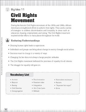 civil rights movement vocabulary