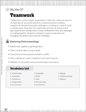 Essential Questions for Collaboration: Teamwork | Printable Lesson ...