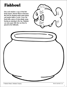 Fishbowl: Coloring Page | Printable Coloring Pages