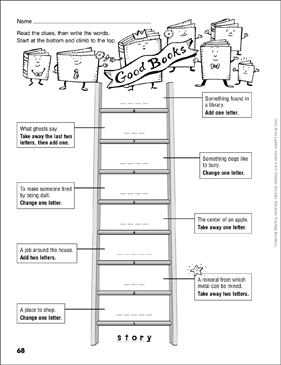 Good books word ladder grades 4 6 printable skills sheets good books word ladder grades 4 6 fandeluxe Gallery