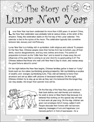 chinese new year a winter holidays unit