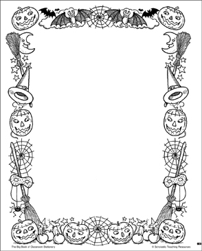 picture about Halloween Stationery Printable referred to as Halloween: Stationery (With or Devoid of Strains) Printable