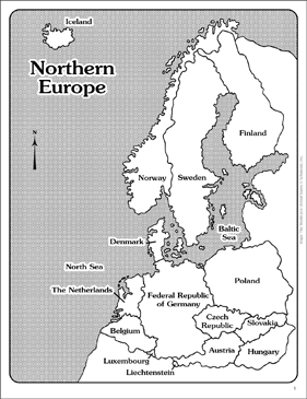 maps of northern europe labeled and unlabeled printable maps and