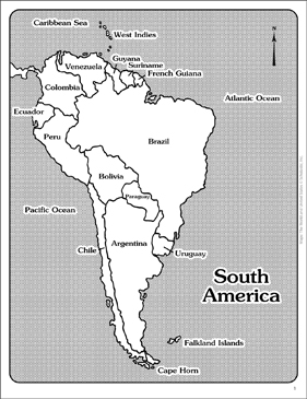 Maps of South America (Labeled and Unlabeled) | Printable Maps and ...