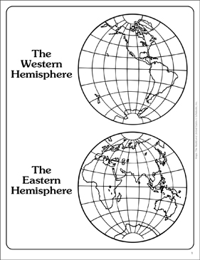Western and eastern hemispheres outline map printable maps and western and eastern hemispheres outline map gumiabroncs Images