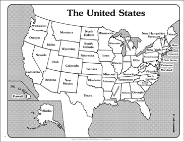 Maps of the United States (Labeled and Unlabeled ...