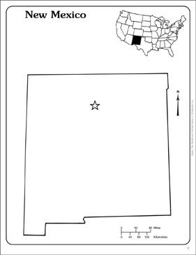 photo about Printable Map of New Mexico identified as Refreshing Mexico: Country Define Map Printable Maps and Capabilities Sheets